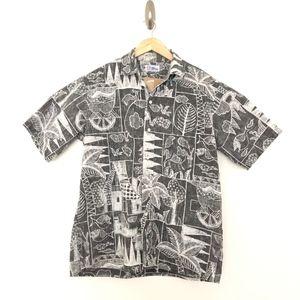 Reyn Spooner Vintage Reverse Print Hawaiian Shirt